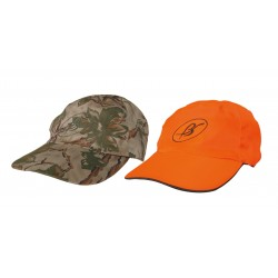 "GORRA REVERSIBLE ""NATURAL CAMU-NARANJA"" Regulable. REF-116NC/N"